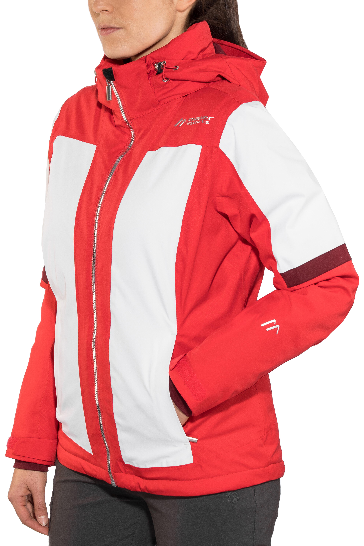 Maier Sports Valisera Veste Femme Rouge Blanc Sur Campz